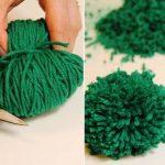 коврик из помпонов как сделать