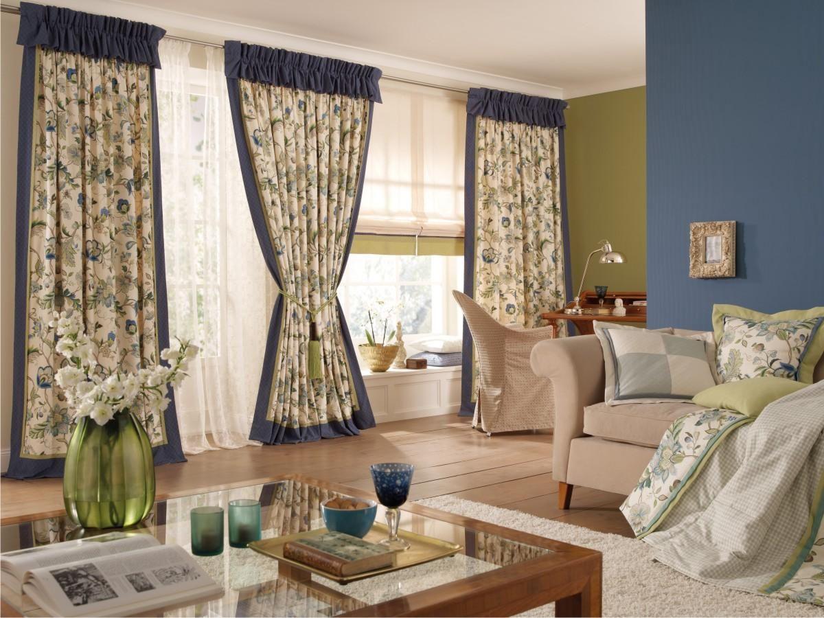 шторы прованс в гостиной