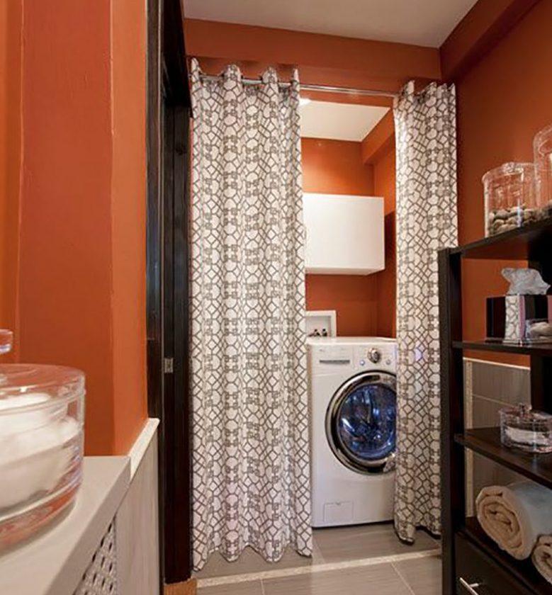 штора на шкаф в ванную
