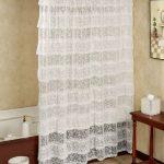 текстильные шторы для ванной идеи дизайна