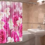 текстильные шторы для ванной декор