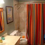 текстильные шторы для ванной декор идеи