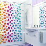 текстильные шторы для ванной идеи декора