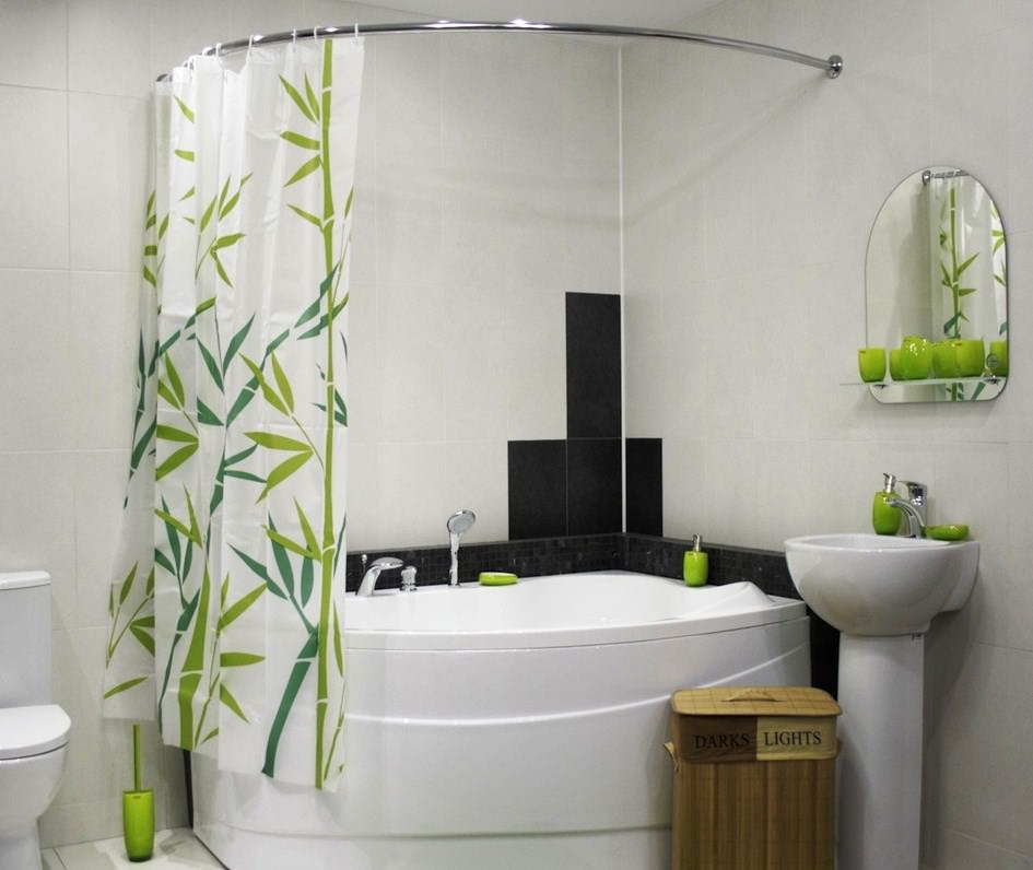 шторки для ванной комнаты фото декора