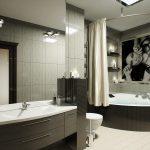 угловые шторки для ванной оформление