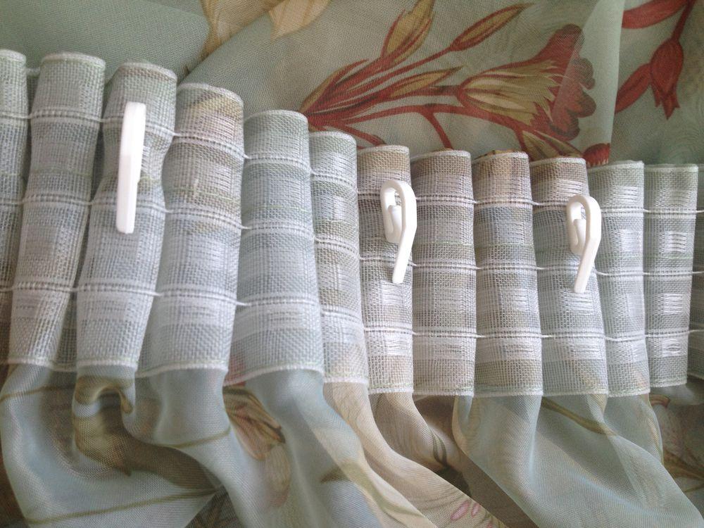 шторы на лентах и крючках