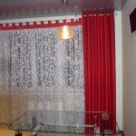 шторы для кухни на люверсах фото