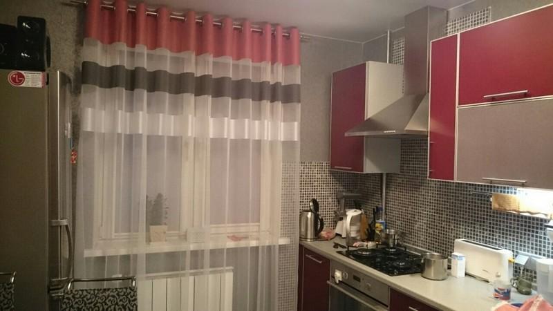 шторы для кухни на люверсах идеи