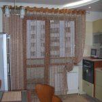 шторы для кухни на люверсах виды идеи