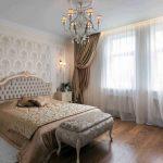 шторы на шторной ленте в спальне