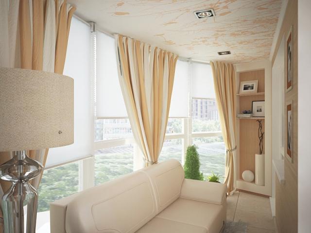 шторы на балкон идеи