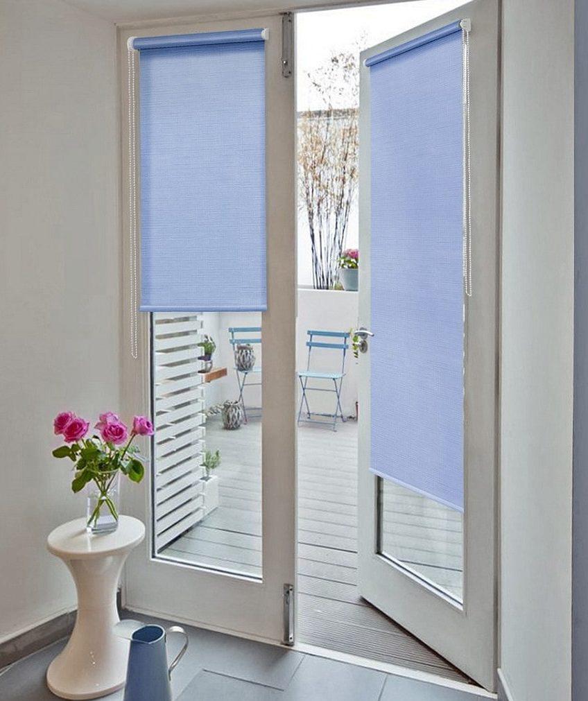рулонные шторы на двери фото идеи