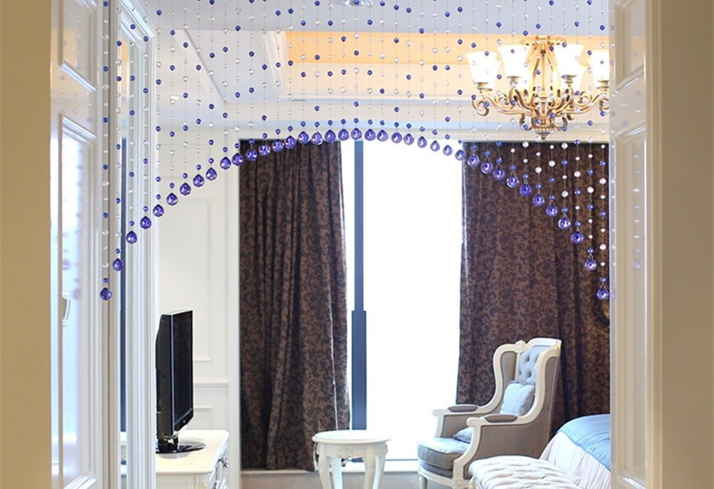 шторы на дверной проем виды декор