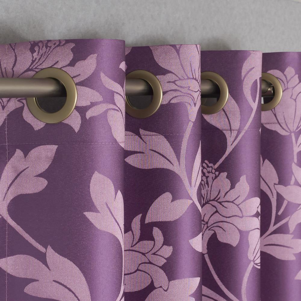 шторы на люверсах фиолетовые