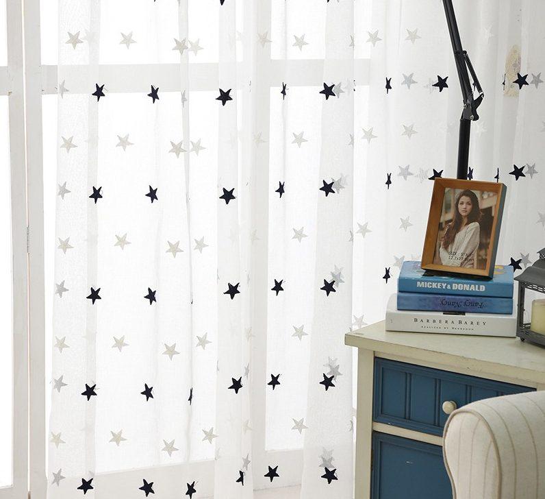 шторы со звездами декор фото