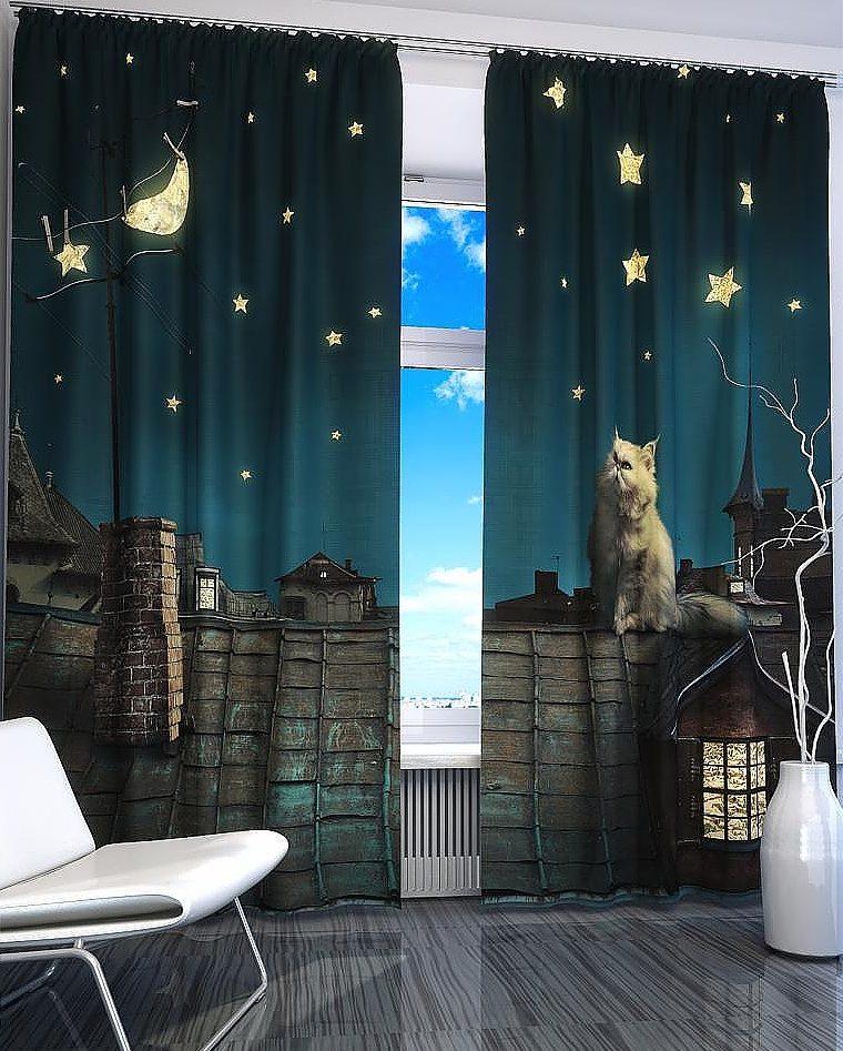 шторы со звездами фото дизайн