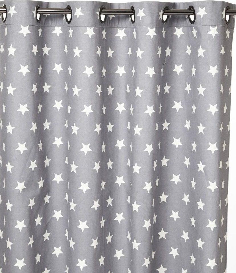 шторы со звездами оформление