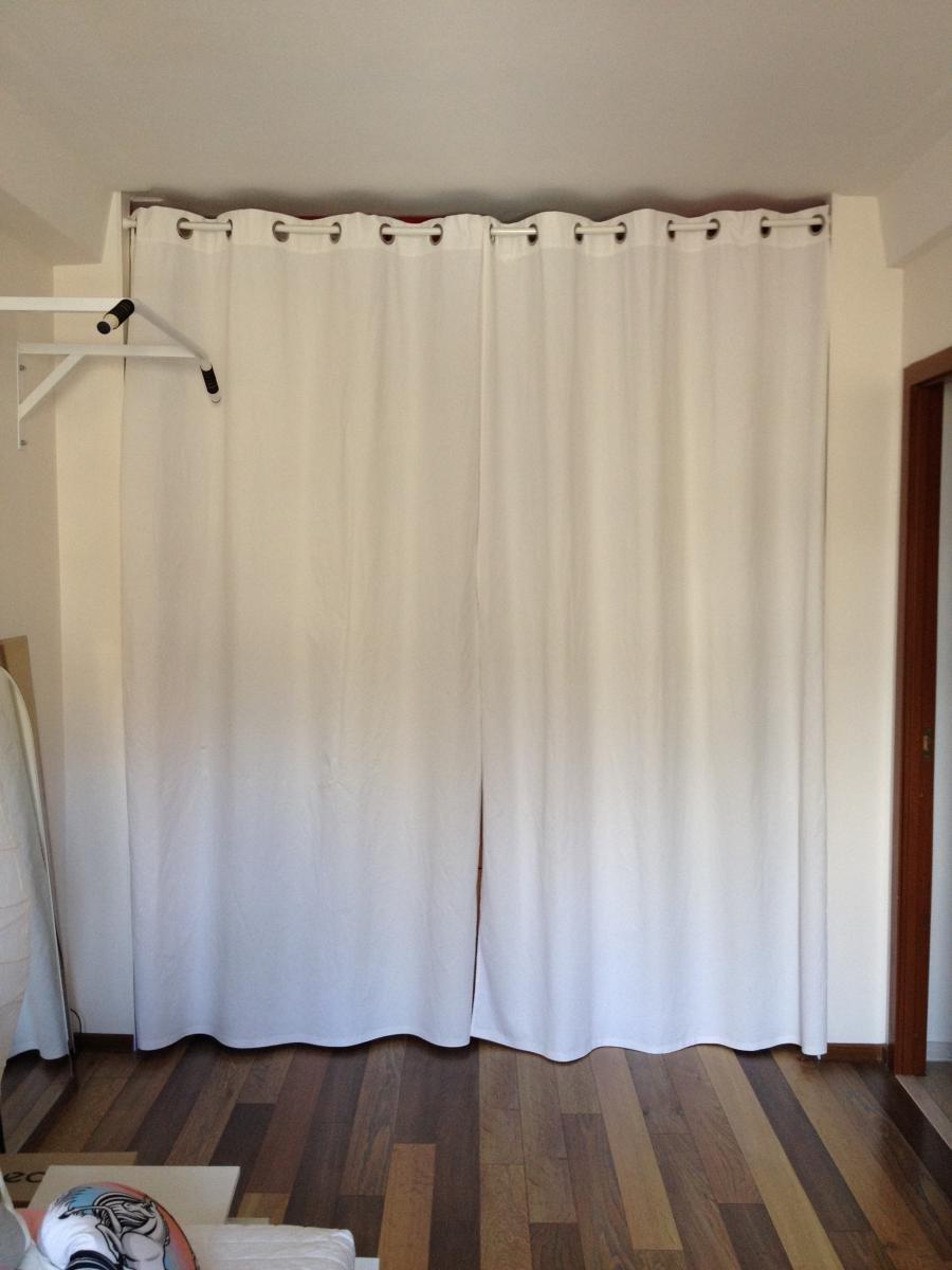 шторы в гардеробную на люверсах
