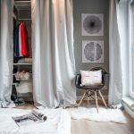 шторы в гардеробную вместо дверей фото оформление