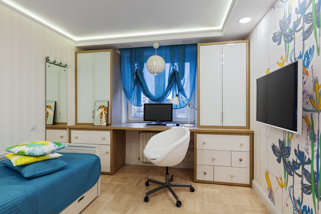 шторы в комнату подростка мальчика дизайн идеи