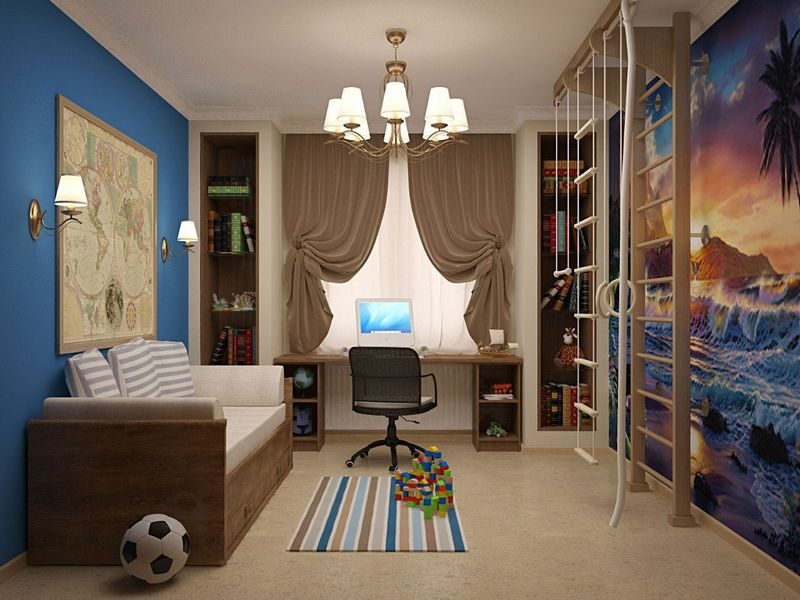шторы в комнату подростка мальчика дизайн