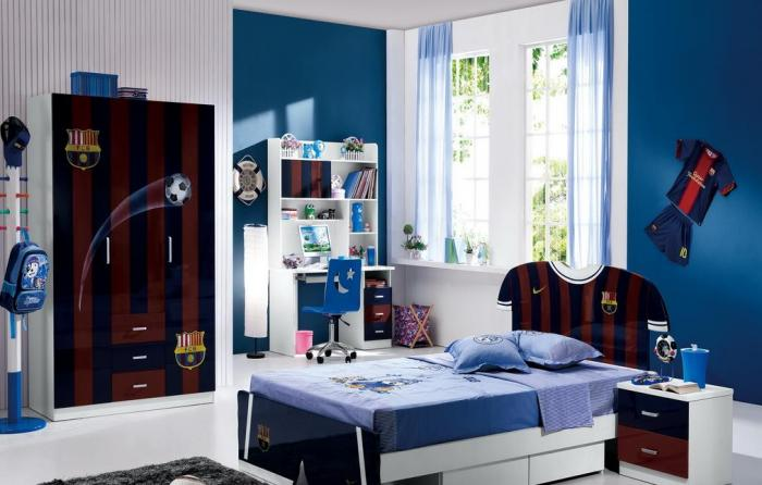 шторы в комнату подростка мальчика фото интерьера