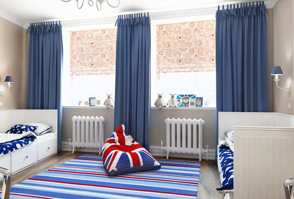 шторы в комнату подростка мальчика фото вариантов