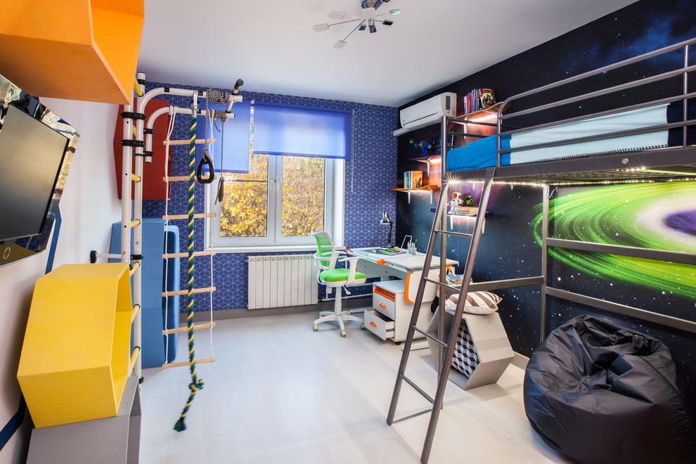 шторы в комнату подростка мальчика оформление