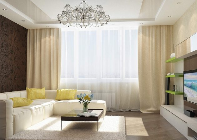 шторы в современном стиле дизайн