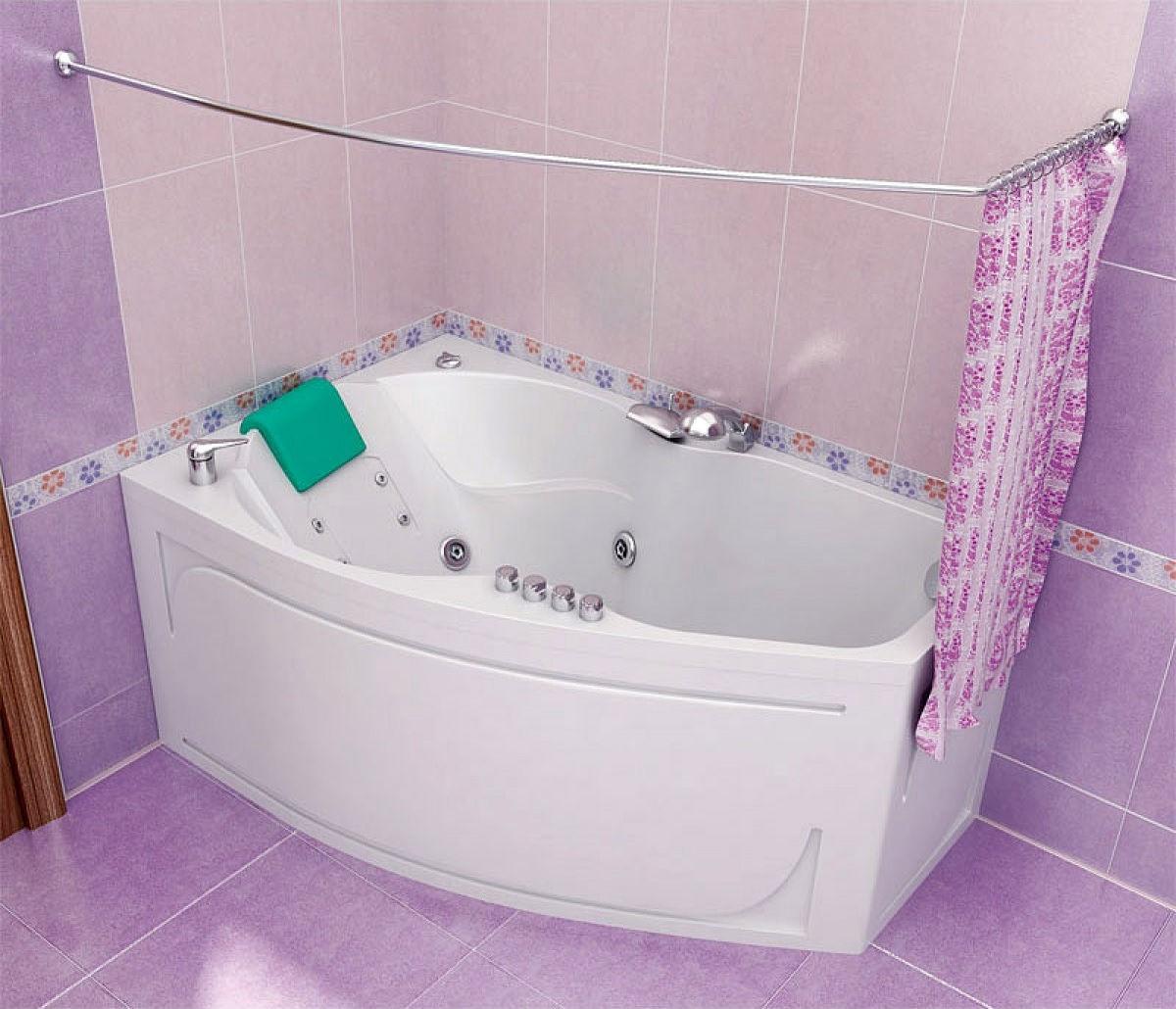 шторы в ванной из ткани