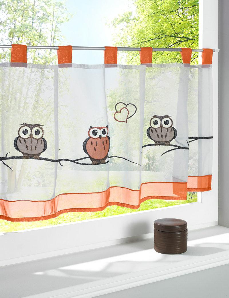 шторы кафе совы