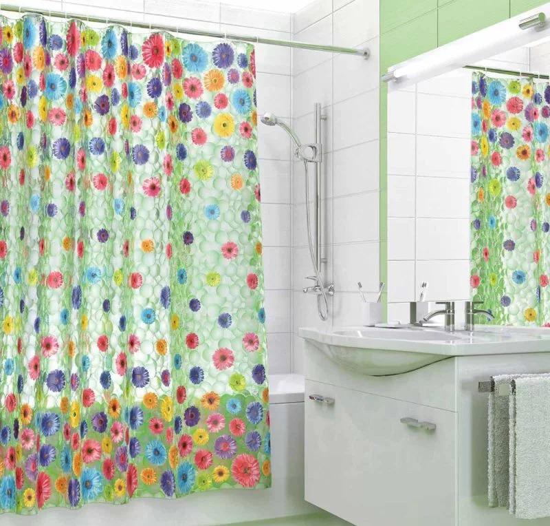 силиконовая шторка в ванной