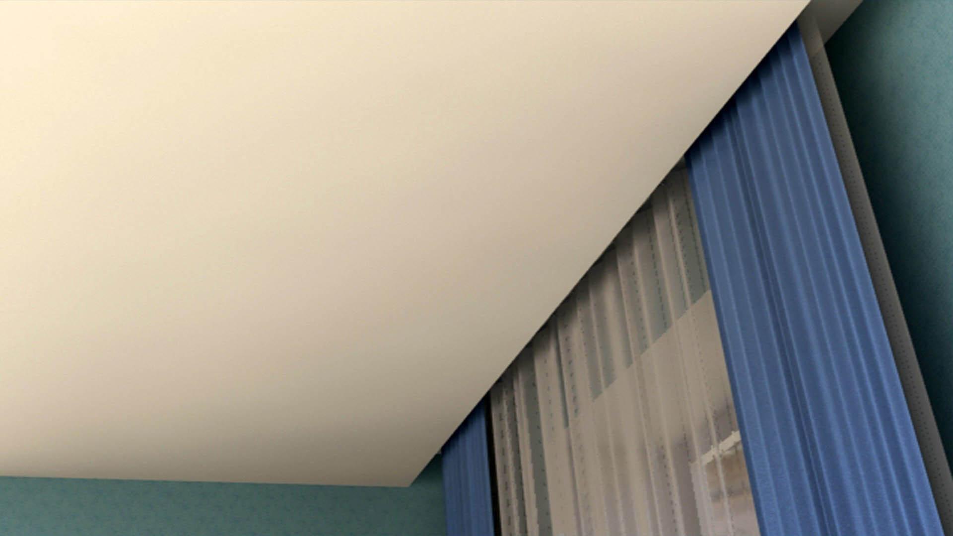 скрытые натяжные потолки