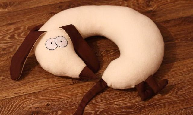 собака подушка для шеи