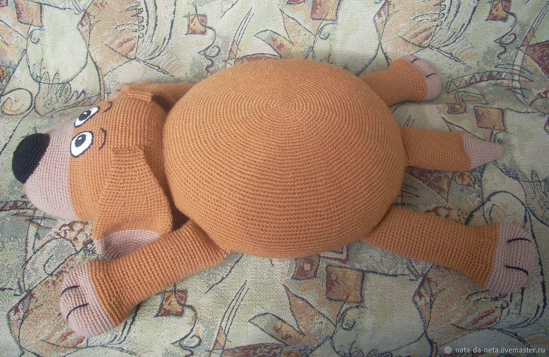 собака подушка игрушка