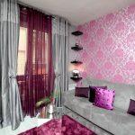 современные шторы в гостиной идеи дизайн