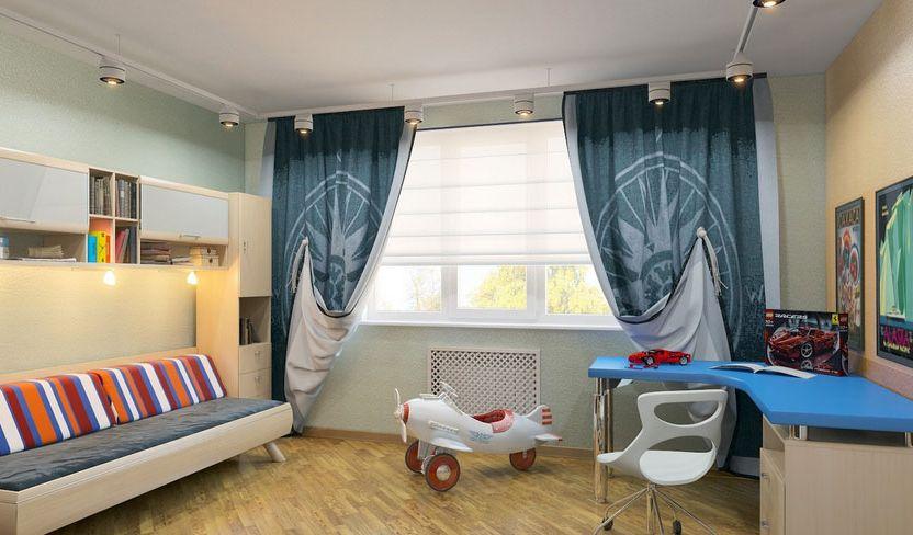 современные шторы в комнату подростка мальчика