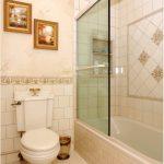 стеклянная шторка для ванной декор фото