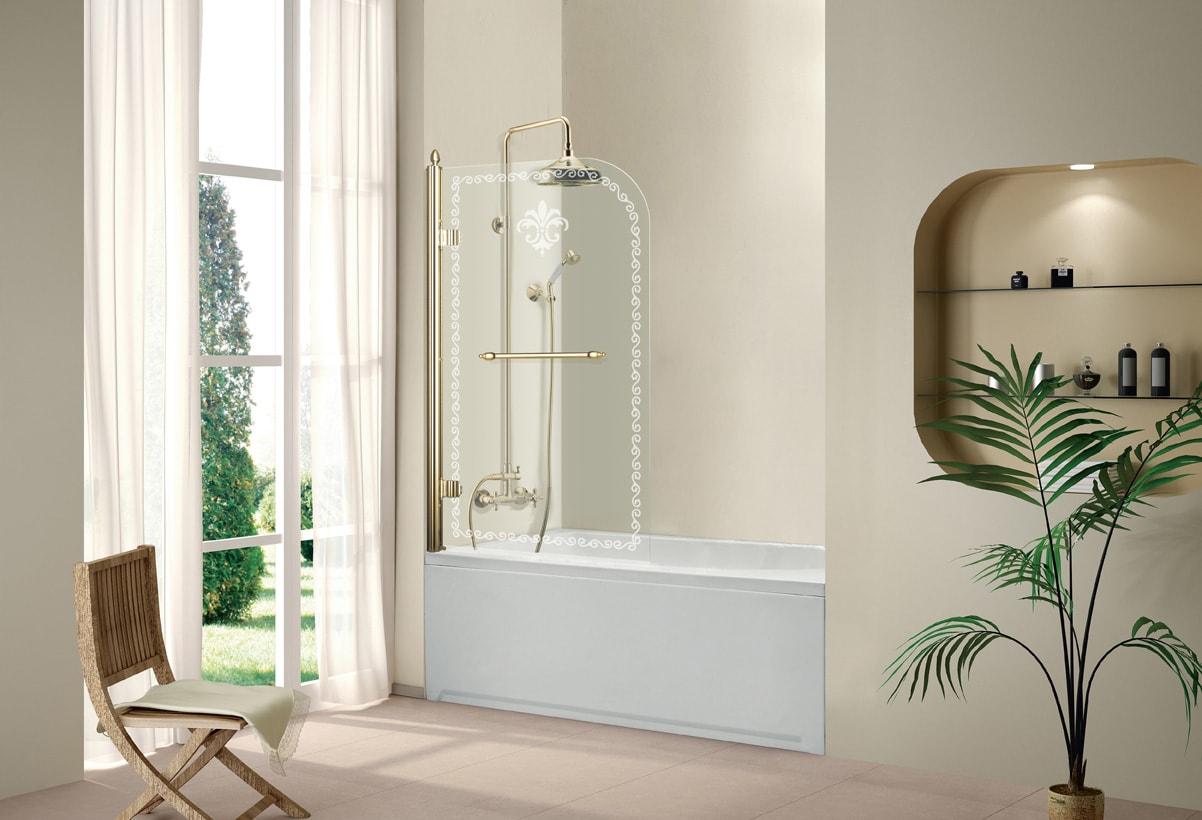 шторка из стекла для ванной