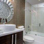 стеклянная шторка для ванной идеи декор