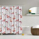 текстильные шторы для ванной фото обзора