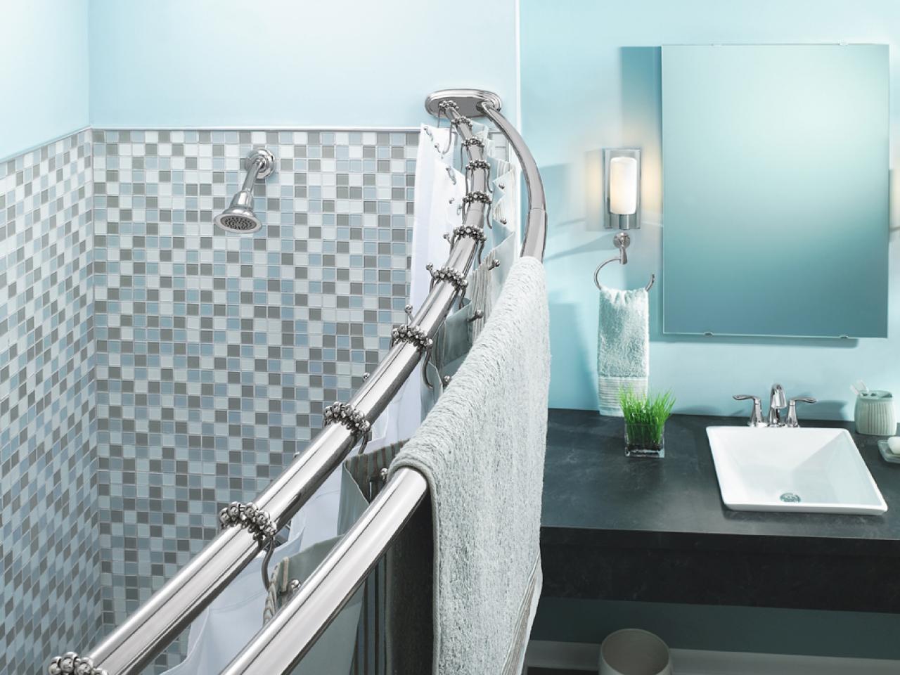 угловые шторы для ванной крепление