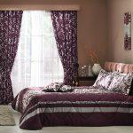 выбираем комплект из штор и покрывала для спальни оформление идеи