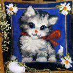 вышивка подушек крестиком фото декор