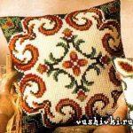вышивка подушек крестиком фото оформление