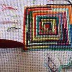 вышивка подушек крестиком фото оформления