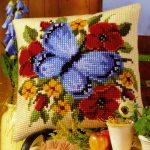вышивка подушек крестиком оформление фото