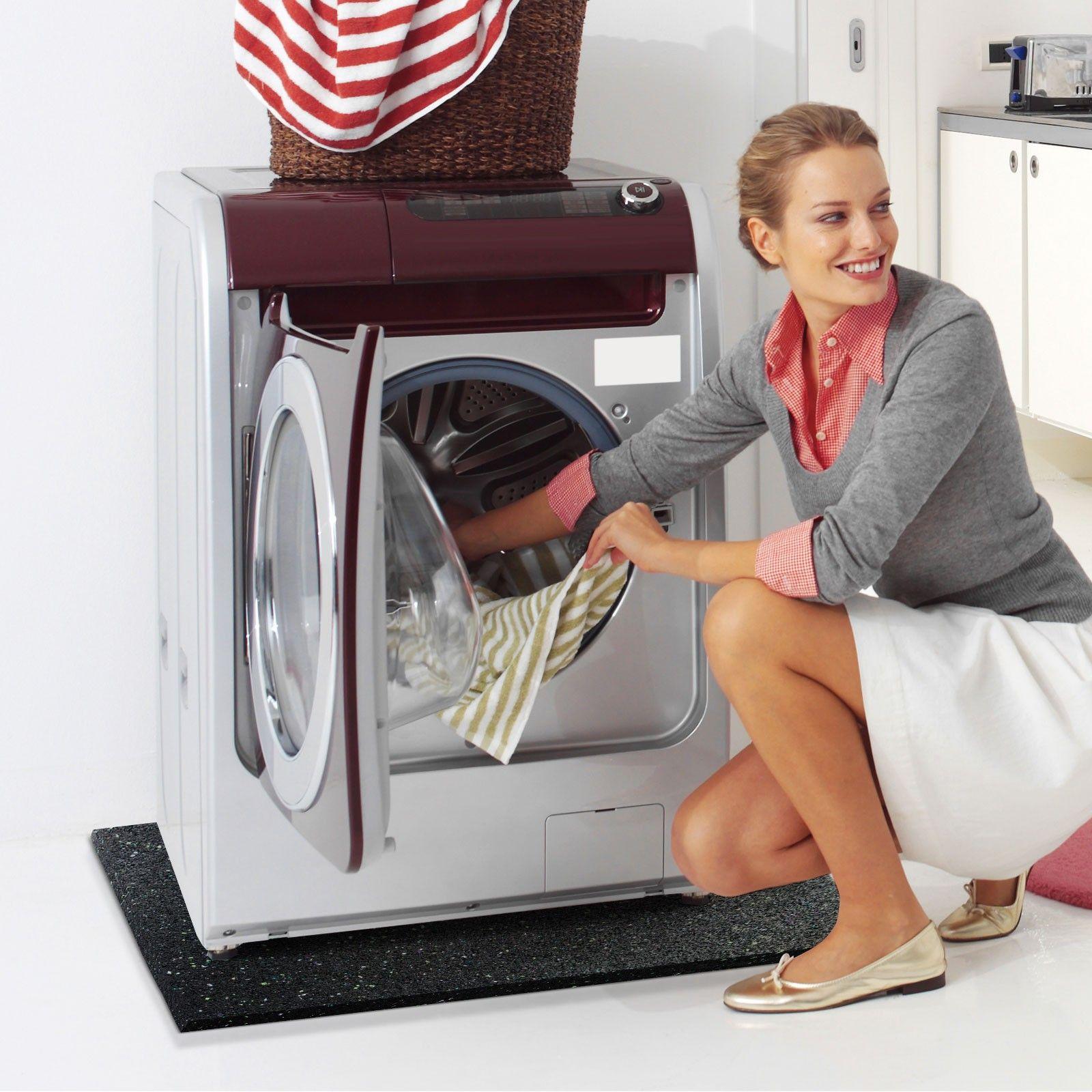 стиральная машина с ковриком