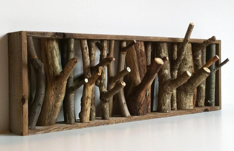 вешалка из дерева своими руками фото видов