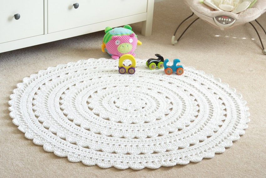 вязаные коврики крючком для детской